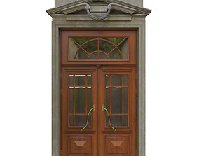 3D Entrance classic door 04