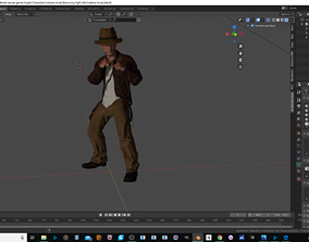 Indiana Jones game ready 3D printable animated game-ready