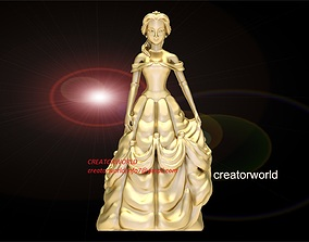 Princess Belle statue 3D print model