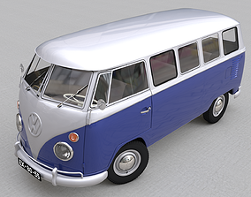 3D VOLKSWAGEN TRANSPORTER DELUXE 13 WINDOWS - 1967