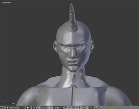 3D print model unicorn with human body
