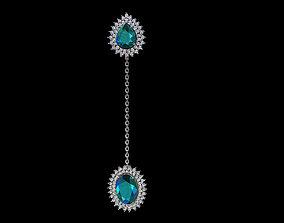 Brinco Pendulo Diamantes Turmalina 3D print model