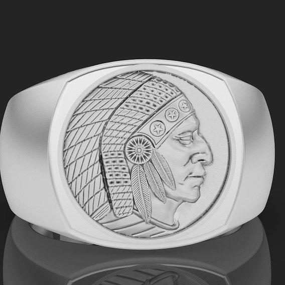 Cushion Indian ring
