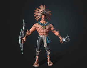 realtime Warrior eagle 3d low-poly
