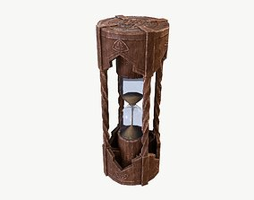 Hourglass 3D asset low-poly PBR