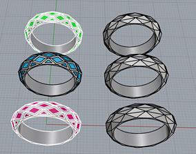 2 anelli con sfaccettature 3D printable model
