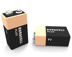 Duracell Battery V9 3D