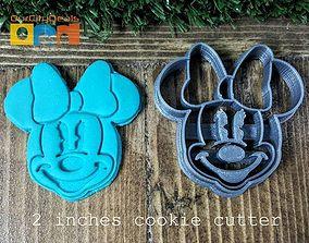 Mini Mouse head cookie cutter 3D print model