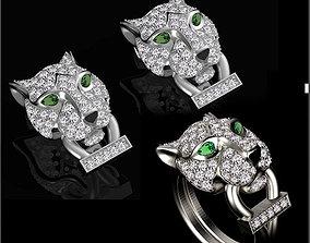 panther earrings 3D printable model pendant