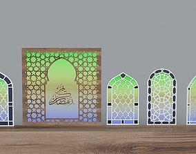 Mosque window with motif Autocad and 3Dmax realtime