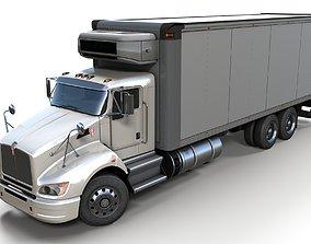 3D asset Kenworth t440 box truck