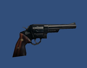 Low Poly 44 Revolver 3D asset