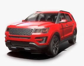 Suv Car Low poly 3D model