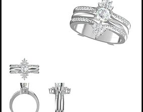 Wedding band rings for women 3d cad jewelry design