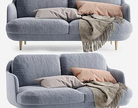 3D Fritz Hansen Lune Sofa 2 Seater