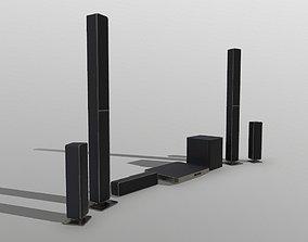 Surround Sound System Bar 3D model