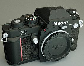 Nikon F3 camera 3D model