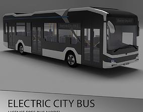 European electric City Bus - License free 3D model