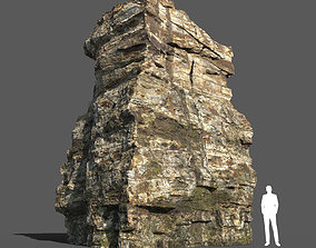 Low poly Rock Cliff 01 191223 3D model