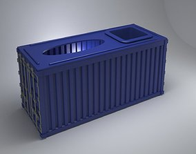 container tissue box 3D print model