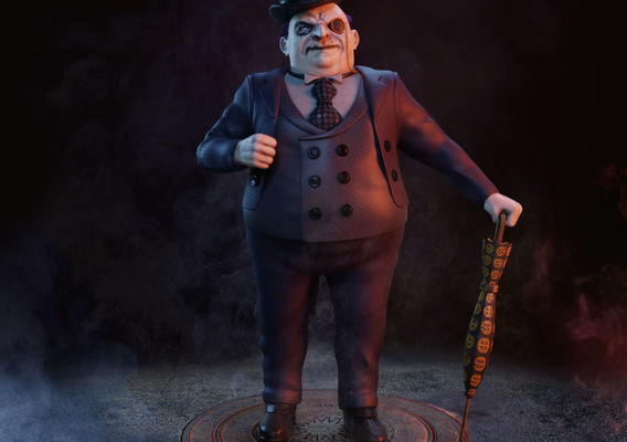 Mr. Penguin (Batman Rival) FanArt 3D Character