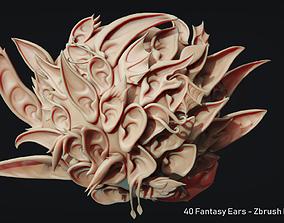 3D model Zbrush - 40 Fantasy Ears - IMM Brush