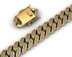9MM MIAMI CUBAN LINK CHAIN DIAMOND 3D printable model