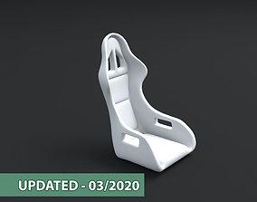 Car racing seat 3D