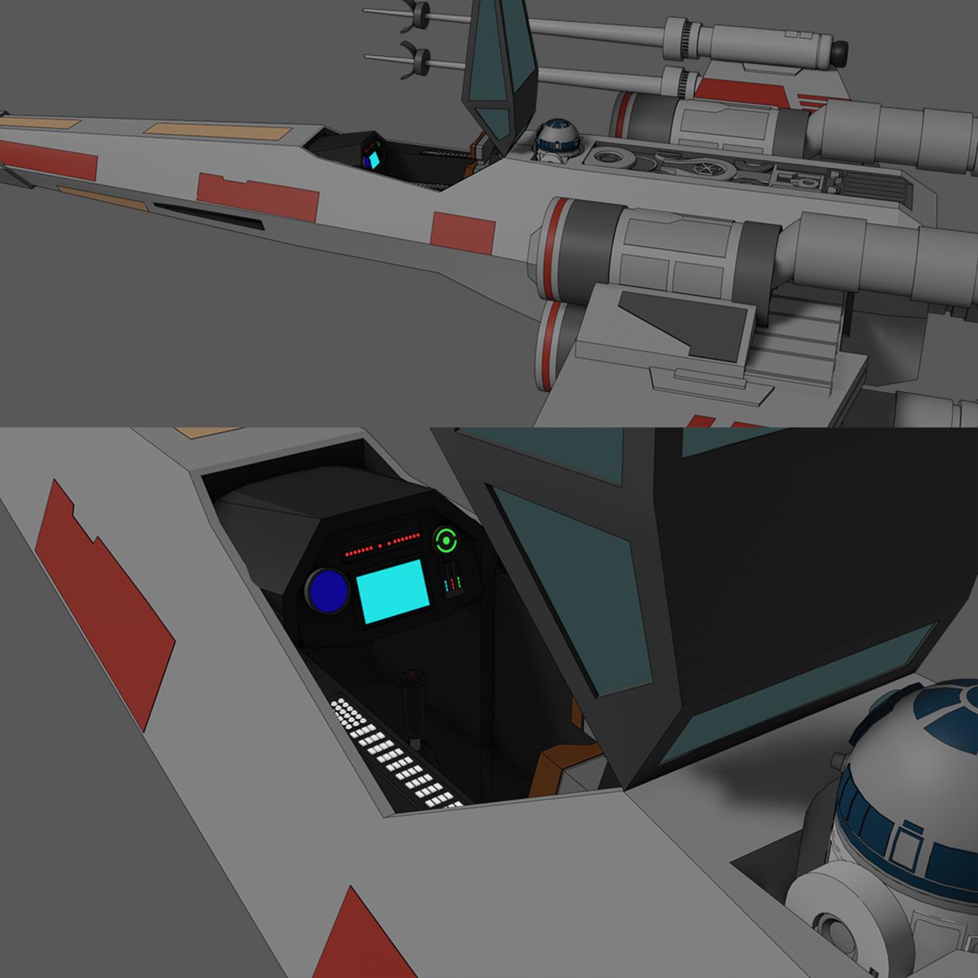 X-Wing - Red 5 - Star Wars - Fan Art