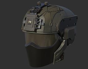 3D printable model Futuristic tactical helmet