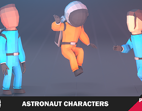 3D asset Astronaut Characters