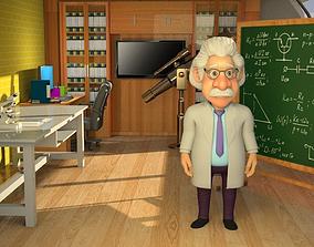 CARTOON PROFESSOR AND DOCTOR 3D