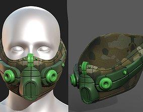 Gas mask respirator scifi futuristic 3d VR / AR ready