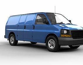3D model large-truck American Van