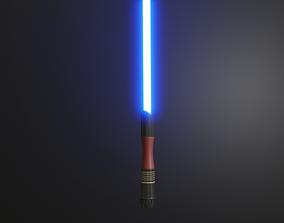 Blue Lightsaber blue 3D model