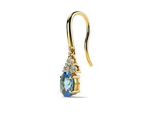 jewllery Oval Stone Earrings 3D print model