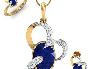 Women ring earrings pendant 3dm stl 5
