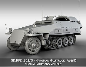 SDKFZ 251 Ausf D - Communications Vehicle 3D