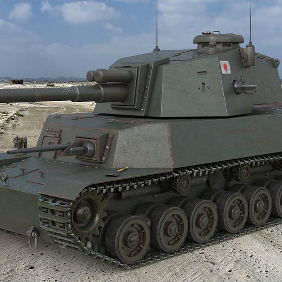 Tank Type 5 Chi-R Japan Vray