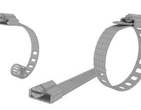 Low Poly Metal Hose Clamp 3D Asset
