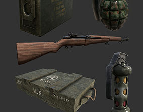 Military Weapon Grenade Flashbang Crate 3D asset