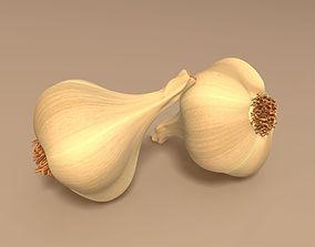 3D model food Garlic