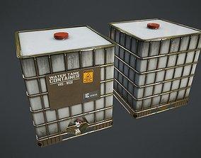 3D asset VR / AR ready cargo Water Tank