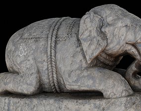 3D model Elephant with 3 LOD - Nepal Heritage