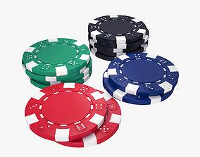 Poker Chips Set 3D