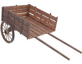 wooden cart 3 3D