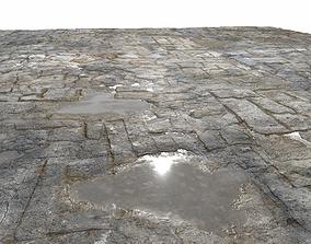 Old Floor Seamless PBR Texture 3D model stone