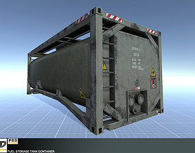 Fuel Storage Tank Container 3D asset