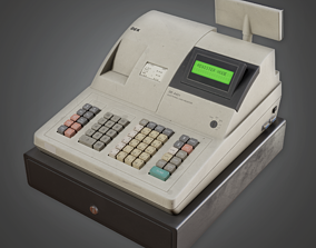 3D model Commerical Checkout Machine- SAM - PBR Game Ready