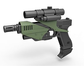 Pistol M70 from Space Above and Beyond TV 3D model 1
